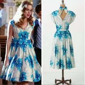 Anthro's Maple Annabelle floral watercolor dress